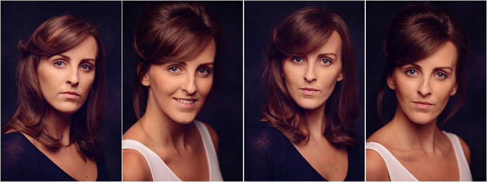 Studio actor headshot photography