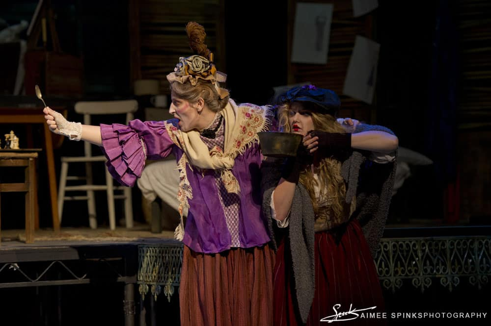 Third year students of Birmingham School of Acting performing, Vieux Carre at the Crescent Theatre, Birmingham
