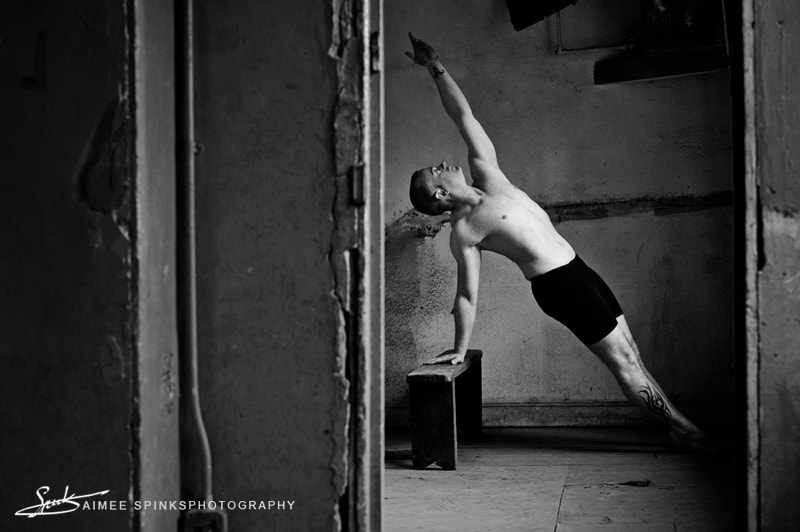 Photography of dancer, Adam Rutherford
